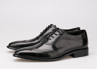 Trung Quốc Black Men Business Casual Shoes , Carved Oxfords Leather Lace Up Brogue Shoes nhà cung cấp