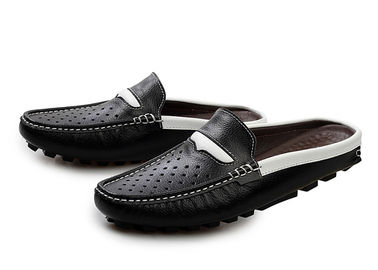 Fashion Flat Mens Leather Slippers Summer Mens Sandals For Beach Walking