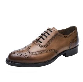 Business Lace Up Casual Shoes , Soft Leather Brand Party Wear Shoes For Mens